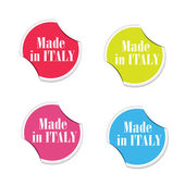 Vector - Made in Italy. Round stickers — Vetorial Stock