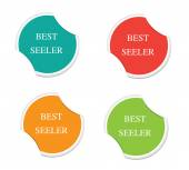 Best seller sign icon. Special offer symbol. Round stickers. — Stock Vector