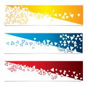 Abstract banners. vector backgrounds. — Stock Vector
