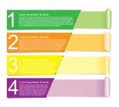 Paper Banner Design templates. — Stock Vector