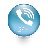 24H phone button — Stock Vector