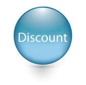 Discount blue button — Stock Vector