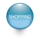 Shopping word blue button — 图库矢量图片