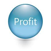Profit word blue button — Stock Vector