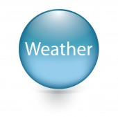 Weather word blue button — Stock Vector