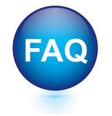 Faq blue circular button — Stock Vector