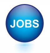 Jobs blue circular button — Vector de stock