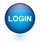 Login blue circular button — Stock Vector