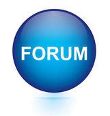 Forum blue button — Stock Vector