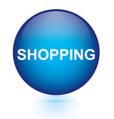 Shopping blue circular button — 图库矢量图片