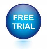 Free trial blue circular button — Stock Vector