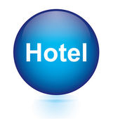 Hotel blue circular button — Stock vektor