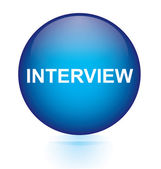 Interview blue circular button — Stock Vector