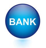 Bank blue circular button — Stock Vector