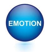 Emotion blue circular button — Stock Vector