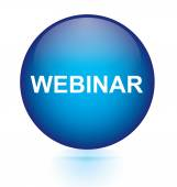 Webinar sign blue circular button — Stockvector