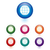 Vector - Set of globe icons — Stock Vector