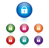 Vector - Set of lock icons — Stock Vector