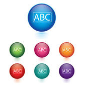 Vector - Set of abc icons — Stock Vector