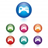 Vector - Set of game sign icons — Stock Vector