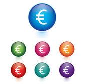 Vector - Set of euro icons — Stock Vector