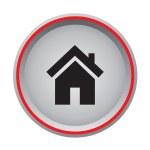 Home sign icon circular button — Stock Vector #62352633