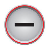 Minus button — Stock Vector