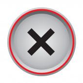 Cancel button — Stock Vector