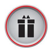 Gift box sign icon — Vetor de Stock