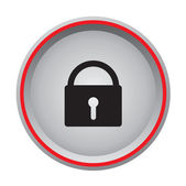 Vector lock icon — Stock Vector
