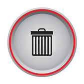 Bin icon — Stock Vector