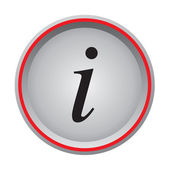 Info icon circular button — Stock Vector