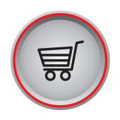 Buy now icon circular button — Vecteur