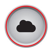 Cloud icon circular button — Stock Vector