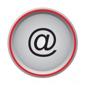 Email icon circular button — Stock Vector