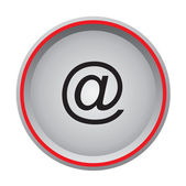 Email icon circular button — Stok Vektör