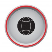 World icon web button — Vector de stock