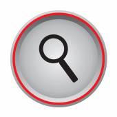 Search icon circular button — Stock Vector