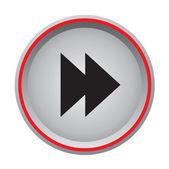 Forward circular button — Stock Vector