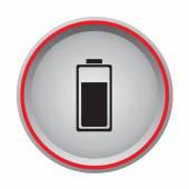 Battery charge icon circular button — Stock Vector