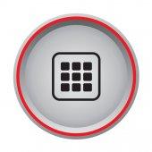 Application sign icon circular button — Stock Vector