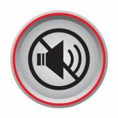 Mute circular icon — Stock Vector