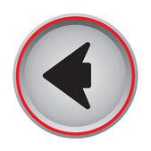 Arrow left icon circular button — Stock Vector