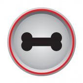 Dog bone sign icon circular button — Stok Vektör