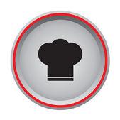 Chef cap icon circular button — Stock Vector