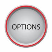 Options icon glossy button — Stock Vector