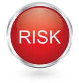Blue risk glossy button — Stock Vector