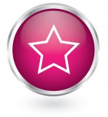 Star glossy button — Stock Vector