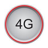 4G button — Stock Vector