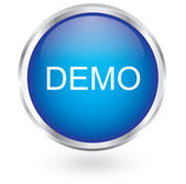 Demo icon glossy button — Stockvector